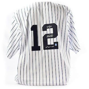 Wade Boggs Autographed New York Yankees Custom Baseball Jersey w/ Inscription (DACW COA)