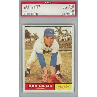 1961 Topps Baseball #38 Bob Lillis PSA 8 (NM-MT) *9895 (Reed Buy)