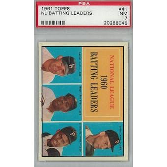 1961 Topps Baseball #41 NL Batting Leaders PSA 7 (NM) *8045 (Reed Buy)