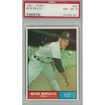 1961 Topps Baseball #83 Bob Bruce PSA 8 (NM-MT) *3181 (Reed Buy)