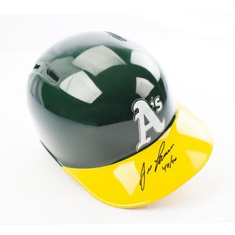 Jose Canseco Autographed Oakland Athletics Batting Helmet w/ 40/40 Inscription (DACW COA)