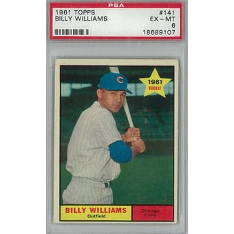 1961 Topps Baseball #141 Billy Williams RC PSA 6 (EX-MT) *9107 (Reed Buy)