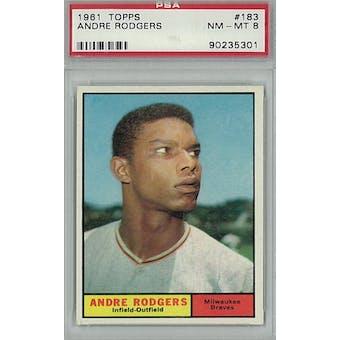 1961 Topps Baseball #183 Andre Roberts PSA 8 (NM-MT) *5301 (Reed Buy)
