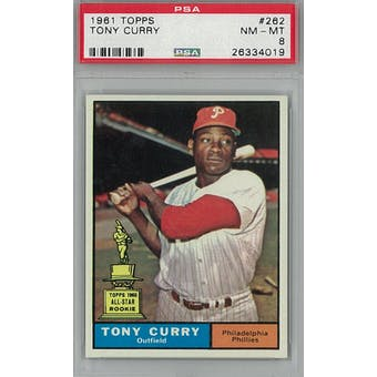 1961 Topps Baseball  #262 Tony Curry PSA 8 (NM-MT) *4019 (Reed Buy)