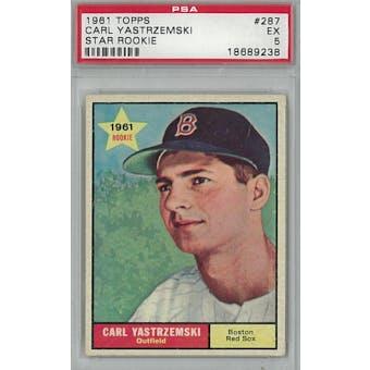 1961 Topps Baseball #287 Carl Yastrzemski PSA 5 (EX) *9238 (Reed Buy)