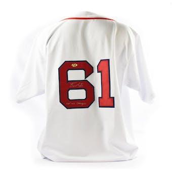 Bronson Arroyo Autographed Boston Red Sox Custom Baseball Jersey w/ Inscription (MAB COA)