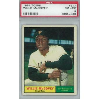 1961 Topps Baseball #517 Willie McCovey PSA 4 (VG-EX) *3339 (Reed Buy)