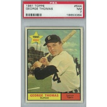 1961 Topps Baseball #544 George Thomas PSA 7 (NM) *3364 (Reed Buy)