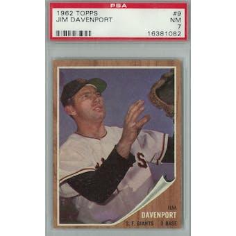 1962 Topps Baseball #9 Jim Davenport PSA 7 (NM) *1082 (Reed Buy)