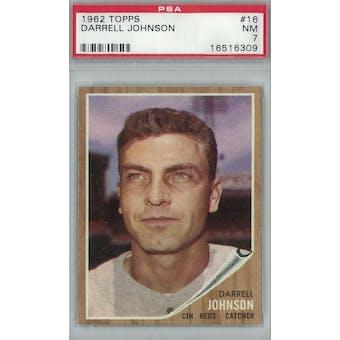 1962 Topps Baseball #16 Darrell Johnson PSA 7 (NM) *6309 (Reed Buy)