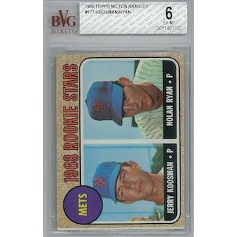 1968 Topps Milton Bradley Baseball #177 Nolan Ryan RC BVG 6 (EX-MT) *1702 (Reed Buy)