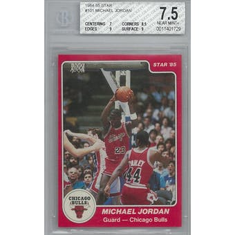 1984/85 Star Basketball #101 Michael Jordan XRC BGS 7.5 (NM+) *1729 (Reed Buy)
