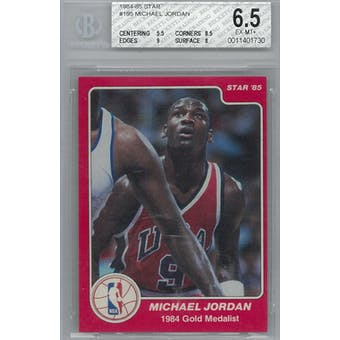 1984/85 Star Basketball #195 Michael Jordan Olympic BGS 6.5 (EX-MT+) *1730 (Reed Buy)