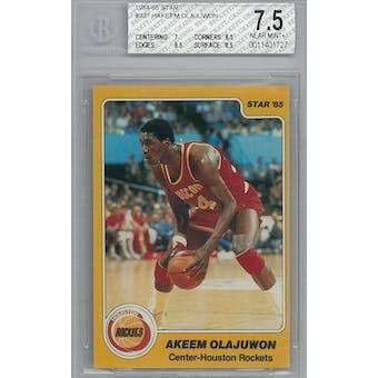 1984/85 Star Basketball #237 Hakeem Olajuwon XRC BGS 7.5 (NM+) *1727 (Reed Buy)