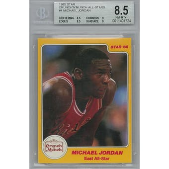 1985 Star Crunch 'n Munch Basketball #4 Michael Jordan BGS 8.5 (NM-MT+) *1724 (Reed Buy)