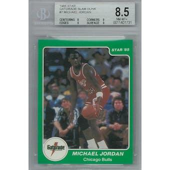 1985 Star Gatorade Slam Dunk Basketball #7 Michael Jordan BGS 8.5 (NM-MT+) *1731 (Reed Buy)