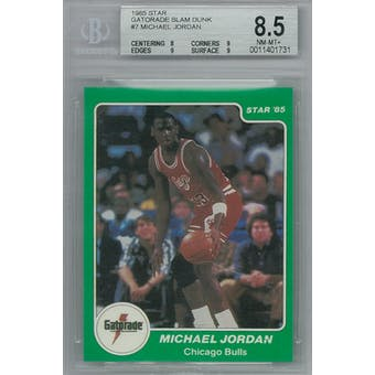 1985 Star Gatorade Slam Dunk Basketball #7 Michael Jordan BGS 8.5 (NM-MT+) *1731 (Reed Buy)