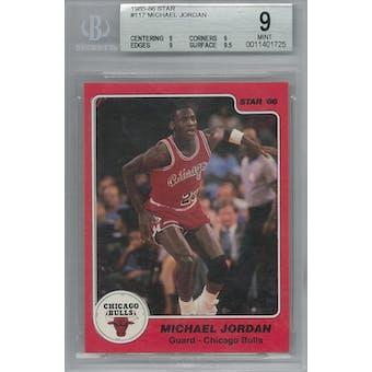 1985/86 Star Basketball #117 Michael Jordan BGS 9 (Mint) *1725 (Reed Buy)