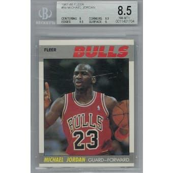 1987/88 Fleer Basketball #59 Michael Jordan BGS 8.5 (NM-MT+) *1704 (Reed Buy)
