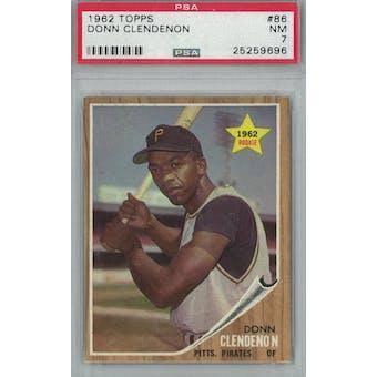 1962 Topps Baseball #86 Donn Clendenon PSA 7 (NM) *9696 (Reed Buy)