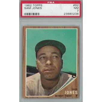 1962 Topps Baseball #92 Sam Jones PSA 7 (NM) *0238 (Reed Buy)