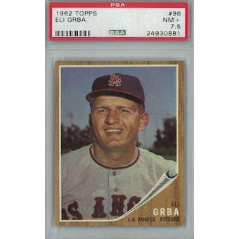 1962 Topps Baseball #96 Eli Grba PSA 7.5 (NM+) *0881 (Reed Buy)