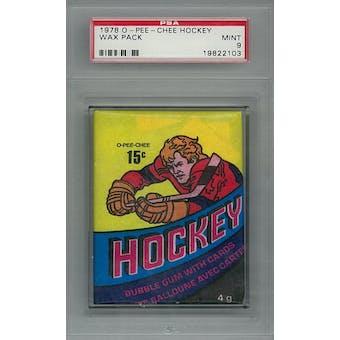 1978/79 O-Pee-Chee Hockey Wax Pack PSA 9 (Mint) *2103 (Reed Buy)