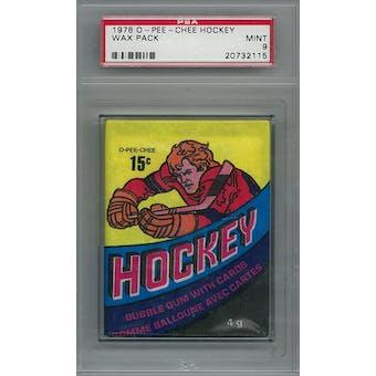1978/79 O-Pee-Chee Hockey Wax Pack PSA 9 (Mint) *2115 (Reed Buy)