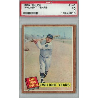 1962 Topps Baseball #141 Twilight Years PSA 5 (EX) *5810 (Reed Buy)