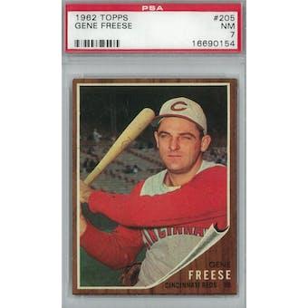 1962 Topps Baseball #205 Gene Freese PSA 7 (NM) *0154 (Reed Buy)