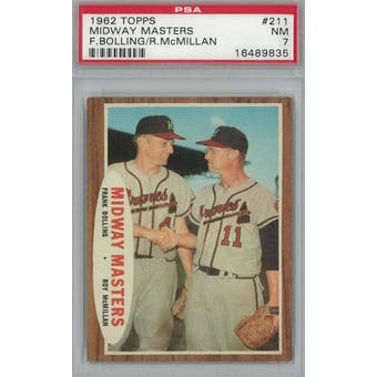 1962 Topps Baseball  #211 Midway Masters PSA 7 (NM) *9835 (Reed Buy)
