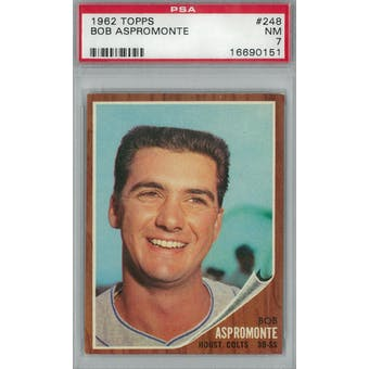 1962 Topps Baseball #248 Bob Aspromonte PSA 7 (NM) *0151 (Reed Buy)