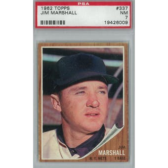 1962 Topps Baseball #337 Jim Marshall PSA 7 (NM) *6009 (Reed Buy)
