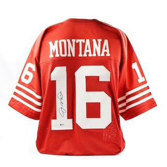 Joe Montana Autographed SF 49ers Custom Football Jersey (Beckett COA)