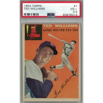 1954 Topps Baseball #1 Ted Williams PSA 3.5 (VG+) *8314 (Reed Buy)