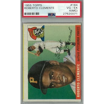 1955 Topps Baseball #164 Roberto Clemente RC PSA 4MC (VG-EX) *0071 (Reed Buy)