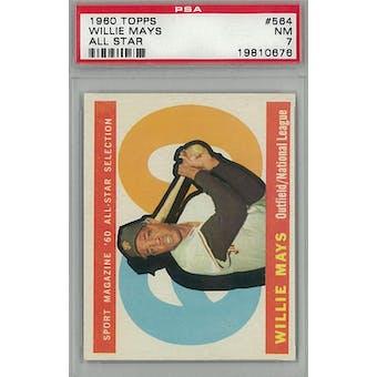 1960 Topps Baseball #564 Willie Mays AS PSA 7 (NM) *0676 (Reed Buy)