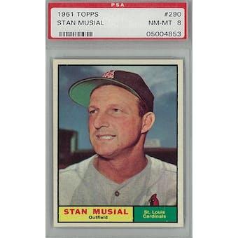 1961 Topps Baseball #290 Stan Musial PSA 8 (NM-MT) *4853 (Reed Buy)