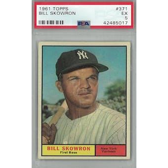 1961 Topps Baseball #371 Bill Skowron PSA 5 (EX) *5017 (Reed Buy)