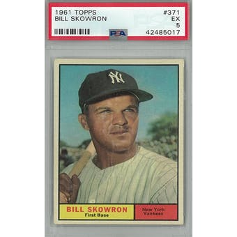 1961 Topps Baseball #371 Bill Skowron PSA 5 (EX) *5017 (Reed Buy)