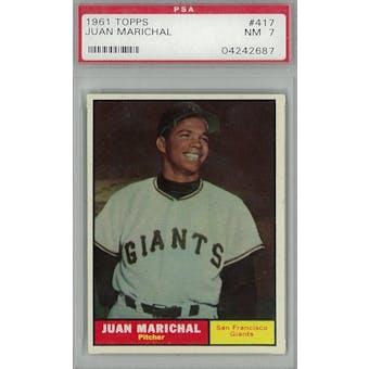 1961 Topps Baseball #417 Juan Marichal RC PSA 7 (NM) *2687 (Reed Buy)