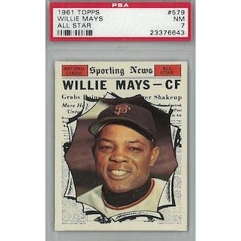 1961 Topps Baseball #579 Willie Mays AS PSA 7 (NM) *6643 (Reed Buy)