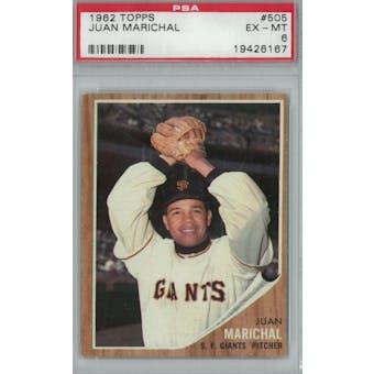 1962 Topps Baseball #505 Juan Marichal PSA 6 (EX-MT) *6167 (Reed Buy)