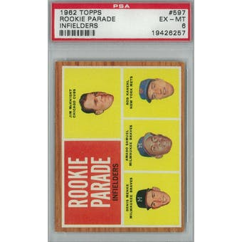 1962 Topps Baseball #597 Rookie Parade PSA 6 (EX-MT) *6257 (Reed Buy)