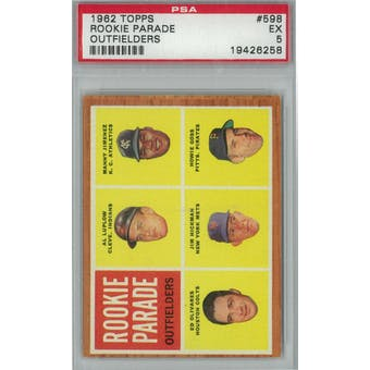 1962 Topps Baseball #598 Rookie Parade PSA 5 (EX) *6258 (Reed Buy)