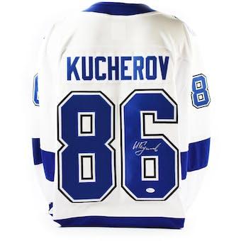 Nikita Kucherov Autographed Tampa Bay Lightning Fanatics Hockey Jersey (JSA COA)