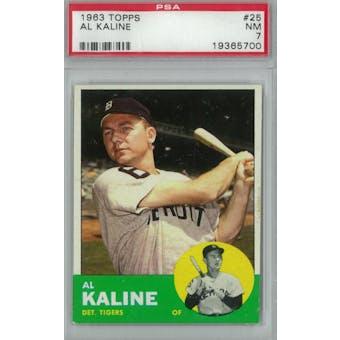 1963 Topps Baseball #25 Al Kaline PSA 7 (NM) *5700 (Reed Buy)