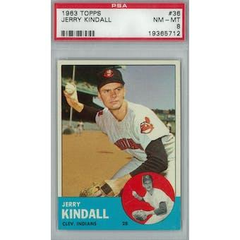 1963 Topps Baseball #36 Jerry Kindall PSA 8 (NM-MT) *5712 (Reed Buy)
