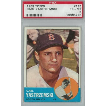 1963 Topps Baseball #115 Carl Yastrzemski PSA 6 (EX-MT) *5795 (Reed Buy)