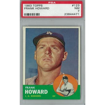 1963 Topps Baseball #123 Frank Howard PSA 7 (NM) *4471 (Reed Buy)